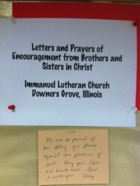 Immanuel Lutheran Church from Downers Grove, Illinois Sends Blessings to Boston