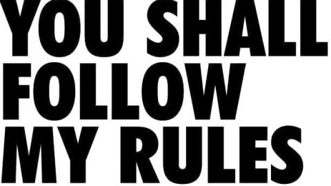Sermon Audio: You Shall Follow My Rules