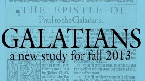 Upcoming Sunday Morning Adult Bible Study: Galatians