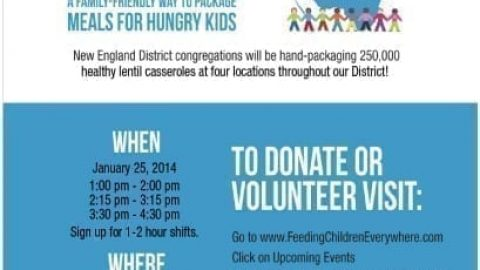 Join the New England District Hunger Project this Saturday!