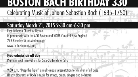 March 21 – Save the Date: Bach Birthday 330 fast approaching