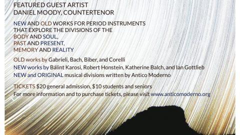 "New Antico Moderno Concert explores ""Divisions"""