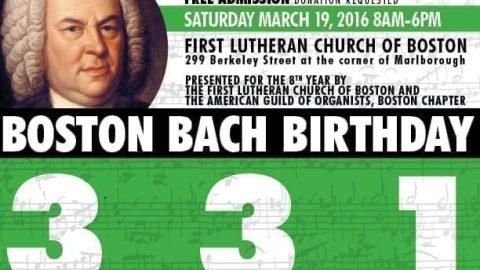 Boston Bach Birthday 331 Program, Reservations & Volunteering