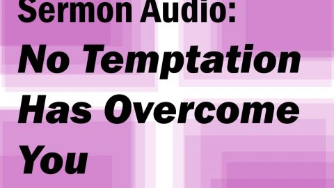 Sermon Audio: No Temptation Has Overtaken You That Is Not Common To Man