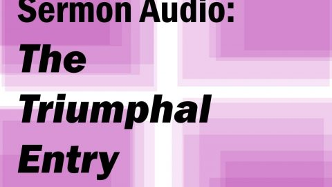 Sermon Audio: The Triumphal Entry