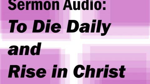 Sermon Audio: To Die Daily and Rise in Christ