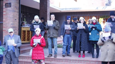 Shining in Joy:  Caroling in the Courtyard